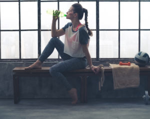 Its important to drink water while spinning, and doing any form of indoor cycling training.